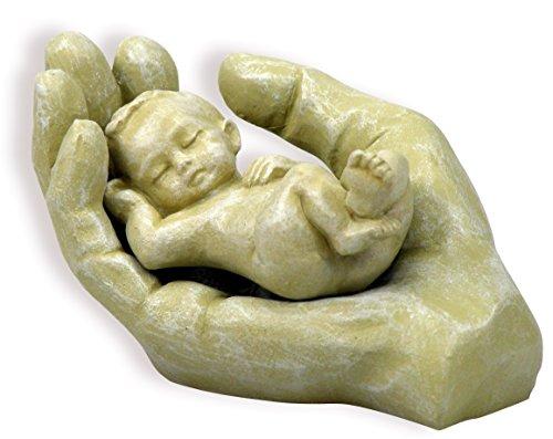 Christliche Geschenkideen °° Keramikfigur 2-teilig Hand mit Kind (Sandfarben)
