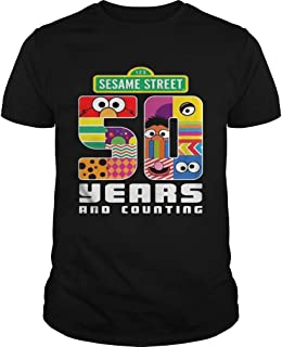 New Collection T shirt for Woman, Man anniversary 50 Years Of Sesame Street Tshirt