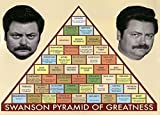 NBCUniversal Store Parks and Recreation Swanson Pyramid of Greatness Poster