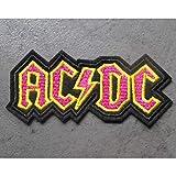 hotrodspirit – Patch gruppo Hard Rock ACDC nero giallo rosa 8 x 5 x 4 cm toppa termoadesiva giacca giacca...