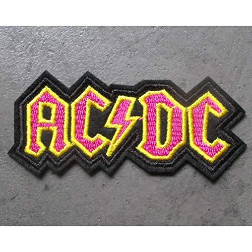 Hotrodspirit – Patch gruppo Hard Rock ACDC nero giallo rosa
