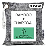 Bamboo Charcoal Air Purifying Bags (4 Pack, 200g each) - Natural Fresh Air with Our Activated Charcoal Bags Odor Absorber for Home - Odor Eliminator and Air Freshener for Car, Pets, Closets, Fridge