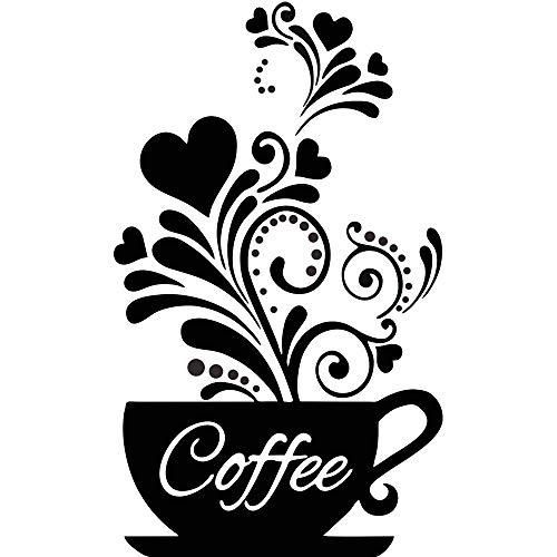 CUNYA czarna kawa dekoracja naklejki ścienne, tablica miłośnicy kawy prezent sztuka ścienna naklejki cytaty, DIY lodówka kubek sztuka tapeta do sklepów java, restauracji, kawiarni, kuchni dekoracja domu prezenty