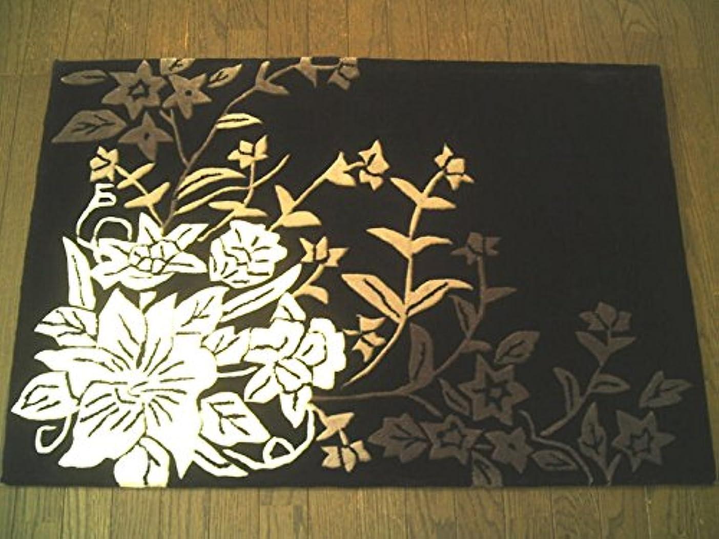 版信念かもめスマートでクールな色合い フックラグマット 50×80 ラグマット 北欧 夏 カーペット 絨毯 おしゃれ 白黒 玄関マット お中元 お歳暮 室内