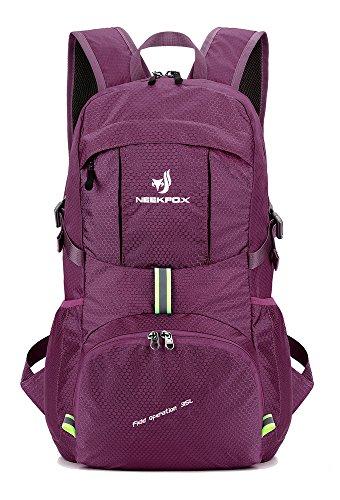 NEEKFOX Leichte Packable Reiserucksack Wanderrucksack, Tagesrucksack, 35L Faltbare Camping Rucksack, Utra leicht Outdoor Sport Rucksack