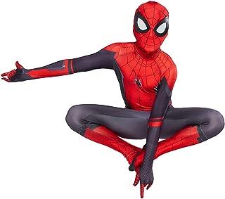 S&C Live ハロウィンコスチューム キッズコスチューム スパイダーマンコスプレ スパイダーマン衣装 スパイダーマン仮装 リアル 3D 立体プリント 戦っている感 かっこいい スパイダーマン全身タイツ スパイダーマン着ぐるみ スパイダーマンオールイワン スパイダーマン:ファー・フロム・ホーム Spider-Man: Far From Home ピーター・パーカー / スパイダーマン マーベルヒーローコスチューム スパイダーマンスコスプレ 脱がなくてもオシッコできる便利なデザイン レッド×ブラック 赤 黒#190092 (キッズ-L)