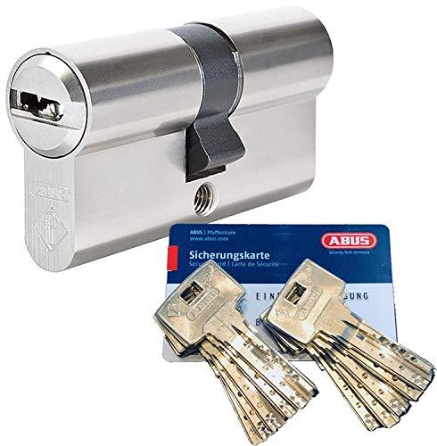 ABUS Bravus.2000 Sicherheits - Doppelzylinder mit 10 Schlüssel, Länge (a/b) 30/30mm (c= 60mm) mit Sicherungskarte, Angriffswiderstandsklasse B, Zusatzausstattung: Not- u. Gefahrenfunktion