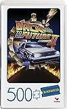 Spin Master Games Movie 500-Piece in Video Case Puzzle de 500 Piezas de la película Back to The Future II en Estuche de plástico Retro Blockbuster VHS, Color Gris (6061266)
