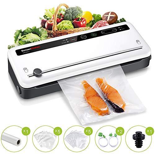 Food Saver Vacuum Sealer Machine For Food, Vaccume Sealer Machine Built in Air Sealing System with Vacuum Sealer Kits, Avoid Dehydration n Freezer Burn, Dry/Moist Model For Sous Vide