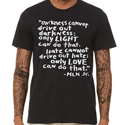 SCOBAR MLK Quote T-Shirt (Vintage Black, Large)