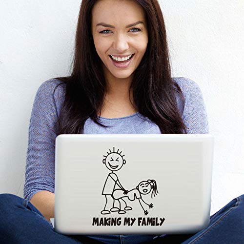 nkfrjz Familien-Computer-Aufkleber-kreativer Muster-Karikatur-Laptop-Aufkleber-Vinylkleber wandaufkleber kinderzimmer 15cm X 14cm