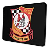 VMFA-312 Checkerboards Mouse Pad Non-Slip Rubber Gaming Mouse Pad Rectangle Mouse Pads for Computers Game Office