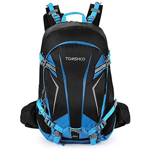 TOM SHOO 30L Cycling Backpack Lightweight Waterproof Backpack with Rain Cover Helmet Cover