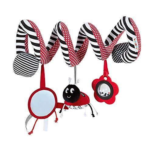 Colgante De Mariquita De Insectos, Accesorios De Juguete Espiral De Barra De Bebé, Espejo De Seguridad, Niña, Niña Suave Y Cómoda