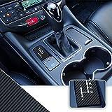 Optix Shifter Gear Position Indicator Vinyl Overlay Wrap Decal Compatible with Maserati Granturismo Quattroporte - Carbon Fiber Black