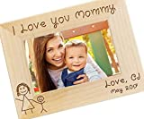 Personalized I Love Mommy Picture Frame - Mothers Day Gift, Gifts for Mom, New Mom Gift, Custom Engraved Photo...