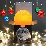 FAYERXL Lampe de nuit Inscription « You are Braver to My Daughter Son » Impression 3D Lune Idées de cadeau de papa Mom (15 cm, to My mam,so Much of moi)
