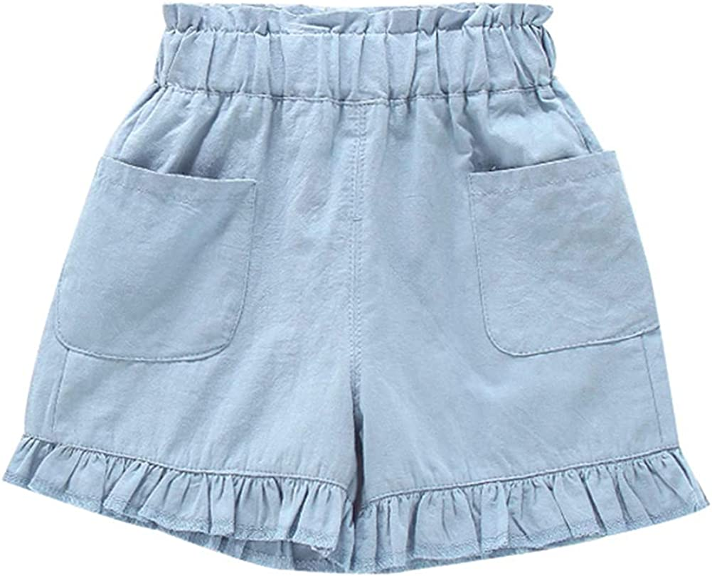 Vinesen Mail order Baby Girl Solid Cheap bargain Shorts Pocket Toddler Summer with