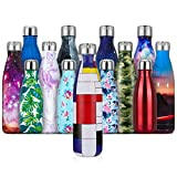 Fancytimes 350, 500, 750ml Thermos Gourde Bouteille d'eau en Acier Inoxydable Isolée Double Paroi Bouteilles Isothermes - Froid 24h ou Chaud 12h, Réutilisable sans BPA