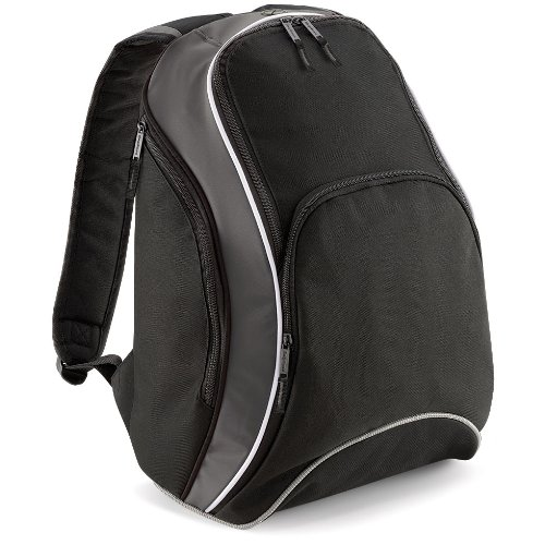 Bag Base - Sac à dos lycéen étudiant loisirs sport TEAMWEAR BACKPACK BG571 - noir gris et blanc - 21L - mixte homme/femme