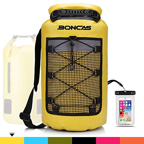 Boncas Waterproof Backpack, 20L Dry Bag with Waterproof Phone Pounch, Roll Top Bag Dry Sack...