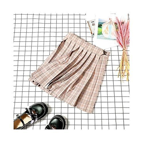 Jk Uniformes de primavera y otoo e invierno, falda a cuadros, faldas plisadas, faldas cortas de cintura alta femenina, faldas genuinas estudiantes japoneses (color: camo de pjaro sur, tamao: M)