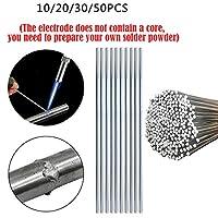 溶接棒 アルミ溶接ろう付け棒低温アルミニウムはんだロッド溶接ワイヤーフラックスのコアはんだ付けロッドはんだ粉を必要としません (Diameter : 33cm 1.6mm, Material : 20pcs)