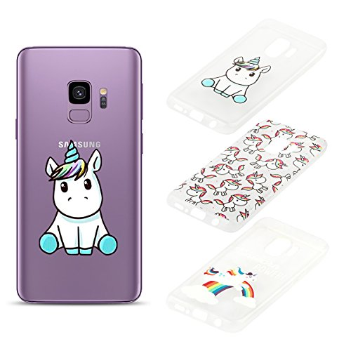 Electro-weideworld [3 Pack] Funda Samsung Galaxy S9, 3D Patrón Flexible TPU Silicona...