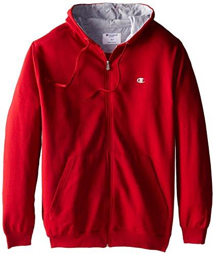 Champion Men's Big-Tall Full Zip Fleece Hoodie, Cardinal Red, 2X/Tall