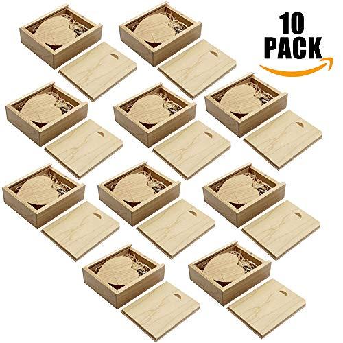 A Plus+ 10 Pezzi 16 GB 3.0 acero legno USB Flash Drive Chiavetta USB 3.0 a Forma di Cuore con scatola di legno