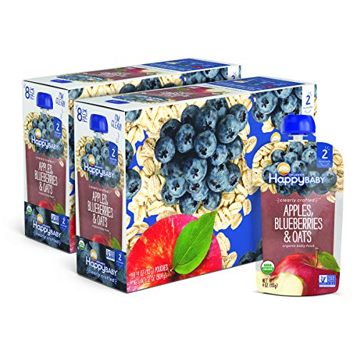 Happy Baby Organic Clearly Crafted Stage 2 Baby Food Apples, Blueberries &...