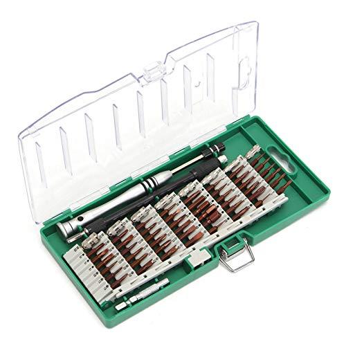 LOMAX Preciso Destornillador de precisión, bit de Destornillador de precisión 60 en 1 for teléfonos móviles y tabletas Herramientas para el hogar (Color : Black)