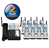 AT&T SB67138 + 7 SB67108 - 9-Handset Corded/Cordless Combination 4-Line 1.9GHz Telephone System