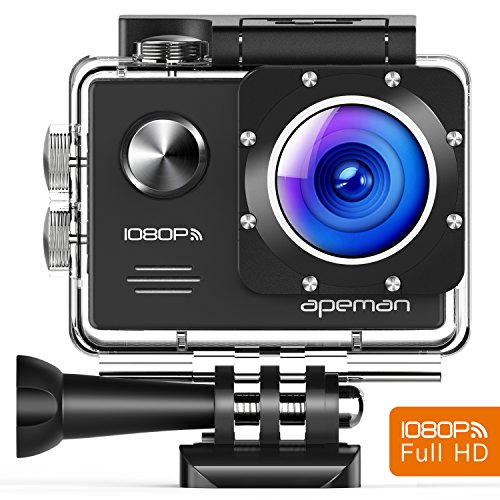 Apeman Cámara Deportiva de Acción WIFI 14MP Full HD Impermeable...