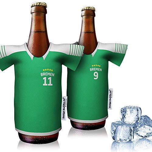 vereins-Trikot-kühler Home für Werder Bremen Fans | 2er Fan-Edition| 2X Trikots | Fußball Fanartikel Jersey Bierkühler by Ligakakao
