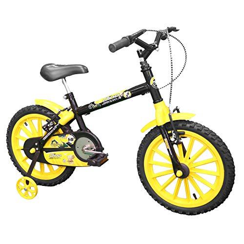 Bicicleta Dino Infantil Aro 16 Preto e Amarelo, Track Bikes