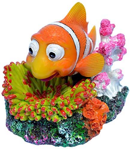 Supa Air Operated Clown Fish Aquarium/Fish Tank Ornament   Realistic Detail   Approx. 12.0cm(L) x 9.0cm(W) x 9.5cm(H).