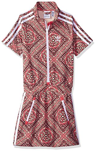 adidas Originals Girls' Big Originals Graphic Dress, Multi/White, L