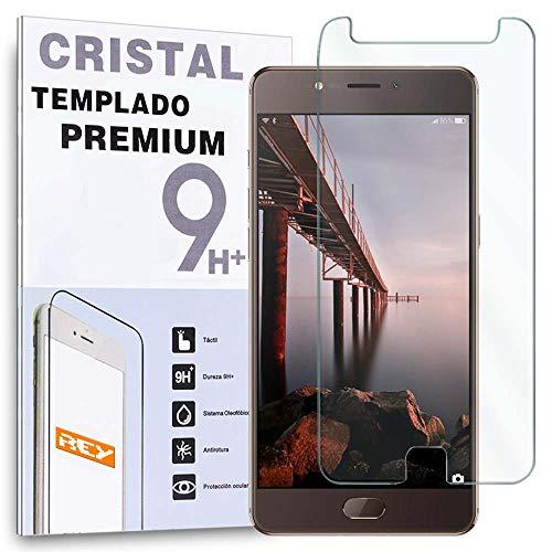 REY Protector de Pantalla para ELEPHONE P8 2017, Cristal Vidrio Templado Premium