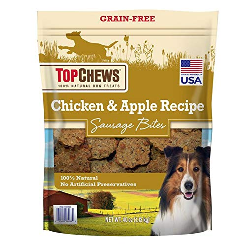 Top Chews Chicken & Apple Sausages 40 oz