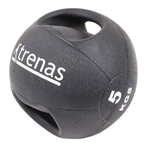 trenas - médecine-Ball Professionnel avec des poignées Pro - 5,00 kg
