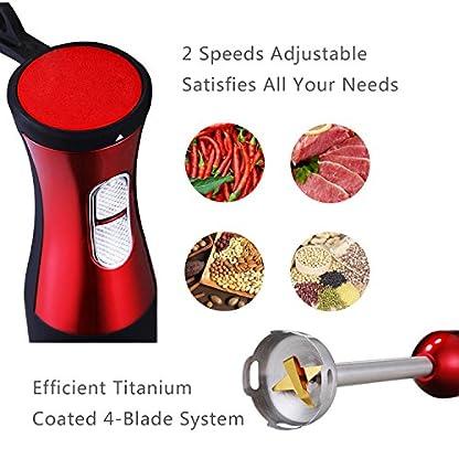 LINKChef-Handmixer-3-in-1-20-Geschwindigkeiten-800-W-500-ml-Kchenmaschine-800-ml-Becher-Schneebesen-robuste-Titanbeschichtung-Edelstahlklinge