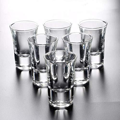 XUYI 6 Stück Schnapsglas Set Tasse Haushalt Bar Club Feuerwasser Schnaps Wein Cocktail Pint Gläser, 6 Stück 35ml
