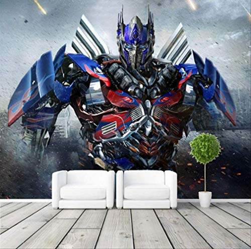 Fototapete 3d Transformers Fototapete Großes Wandbild Raumdekoration Schlafzimmer Kinderzimmer Heimtextilien Breite 200cm * Höhe200cm A