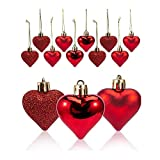 N/U Bolas de bolas en forma de corazón de San Valentín con forma de corazón, bolas de color corazón, decoraciones en forma de corazón para compromisos, aniversarios, cumpleaños, fiestas de boda