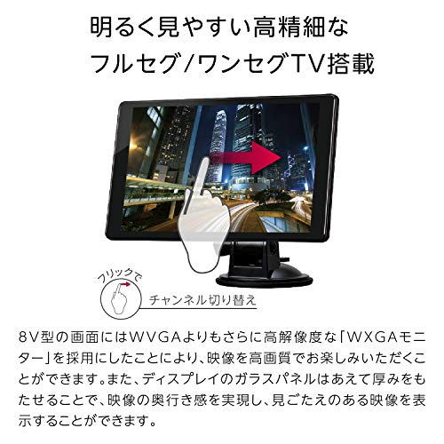 セイワ(SEIWA)カーナビPIXYDAPNM87F8型タテ・ヨコ回転表示対応ゼンリン地図データ搭載地図更新3年間無料フルセグ