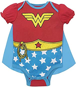 Wonder Woman Baby Girls  Costume Bodysuit with Cape  Red 12-18 Months