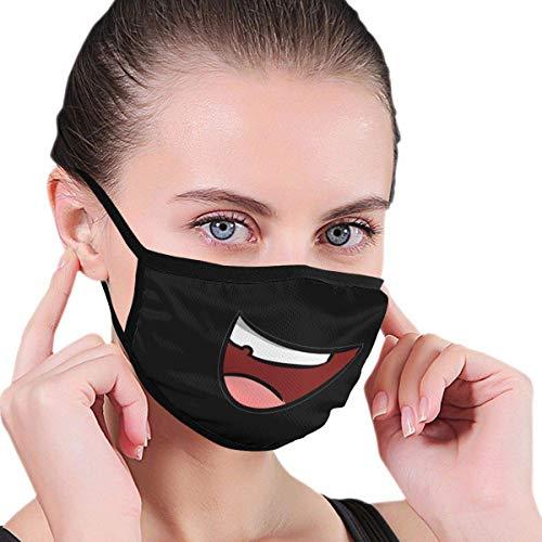 Multifunktionale Gesichtsschutzhülle,Lachender Cartoon-Ausdruck Unisex Waschbare Wiederverwendbare Gesichtsdekorationen Für Persönlichen Schutz