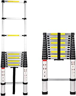 Telescoping Ladder 12.5 FT Aluminum Telescopic Extension Foldable Ladder Max Weight Capacity 330lbs