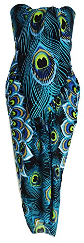 Sarong Wrap From Bali Your Choice of Design Beach Cover Up (Peacock Blue)